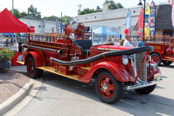 vintage fire engine