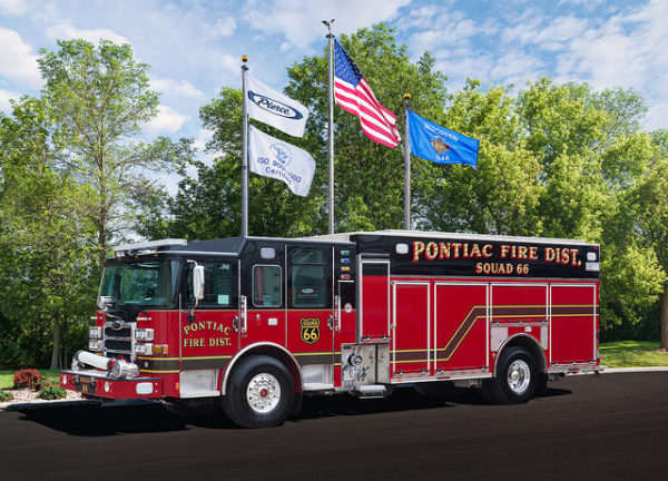 new fire truck for the Pontiac FD in Illinois