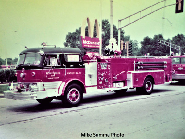 Homewood FD 1960 Mack C95 quad