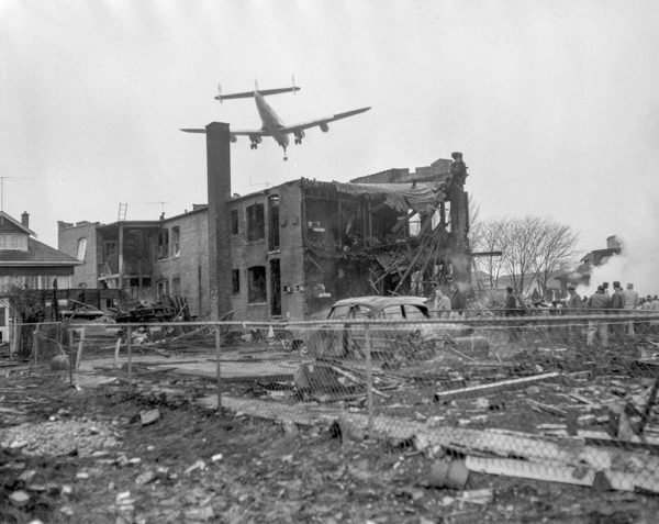 airplane crash site 11-24-59 in Chicago