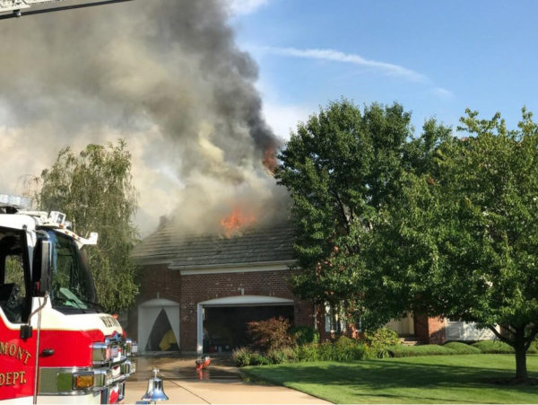 house fire in Burr Ridge IL