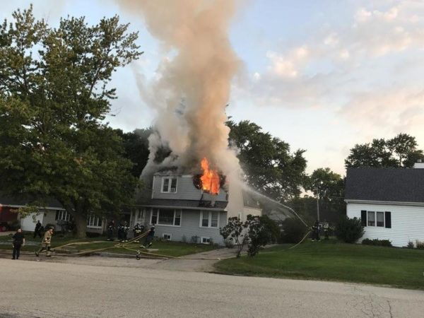 house fire in McHenry, IL