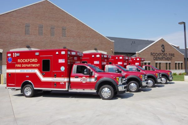 4 new Rockford FD ambulances