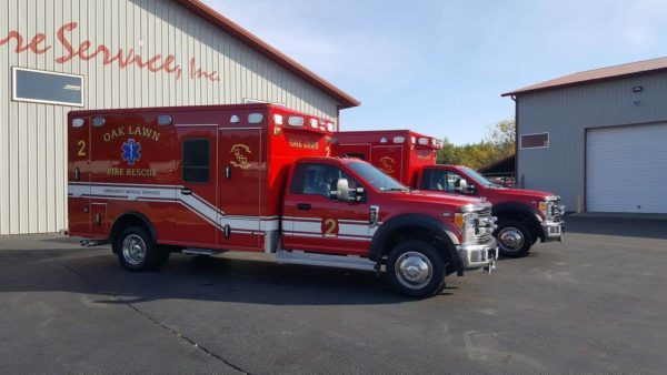 new ambulance for the Oak Lawn Fire Department