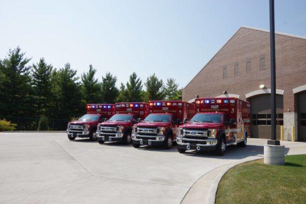 4 new Rockford FD ambulances
