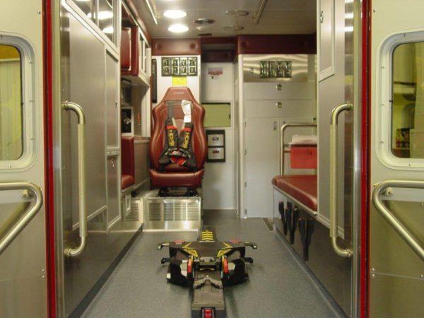 interior of a new ambulance