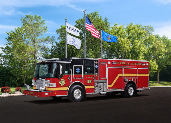 new fire engine for St Charles IL
