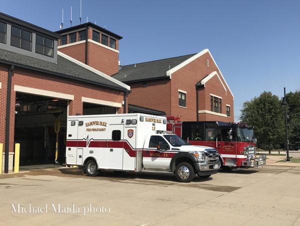 Hanover Park FD fire trucks