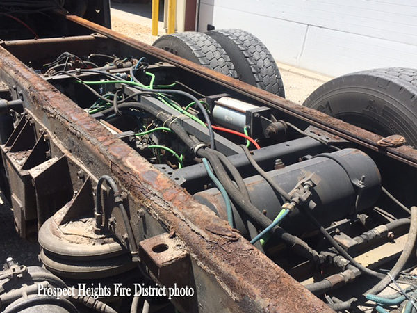 corrosion makes fire truck not repairable