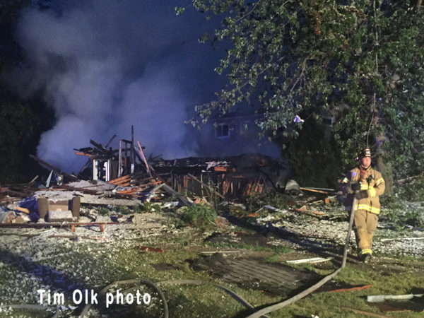 house destroyed by explosion