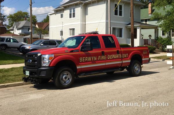 Berwyn FD pickup truck