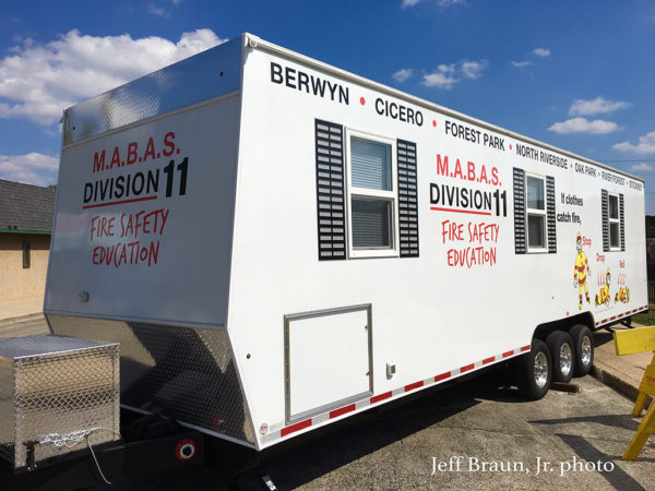 Berwyn FD smoke trailer