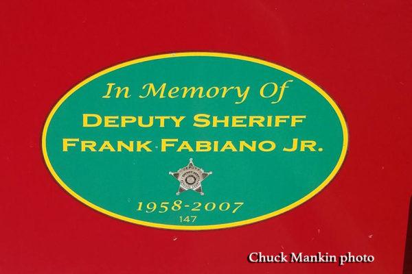 Memorial for fallen deputy sheriff
