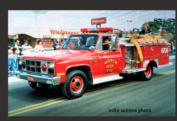 Worth Fire Dept.'s 6708, a 1980's GMC/EONE mini pumper