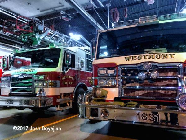 Westmont fire trucks