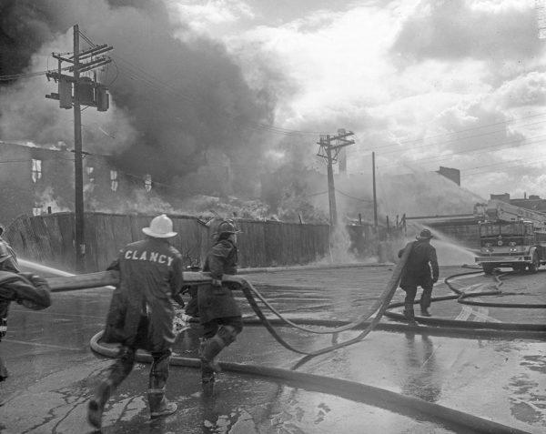 vintage Chicago FD 5-11 Alarm fire