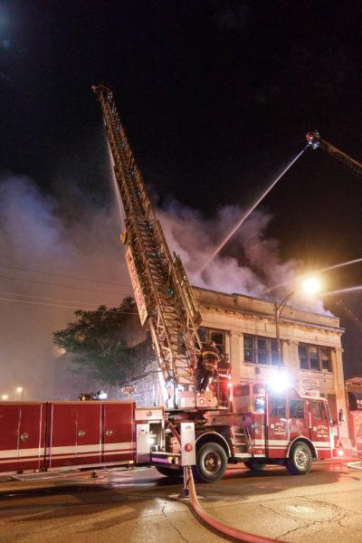 Cicero FD Truck 2 at a fire
