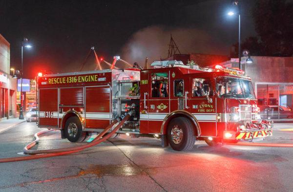 Lyons  fire engine