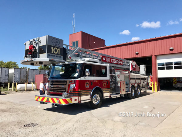 Rosenbauer America Commander 101' Cobra platform demo unit
