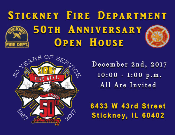 Stickney Fire Department 50th Anniversary open house