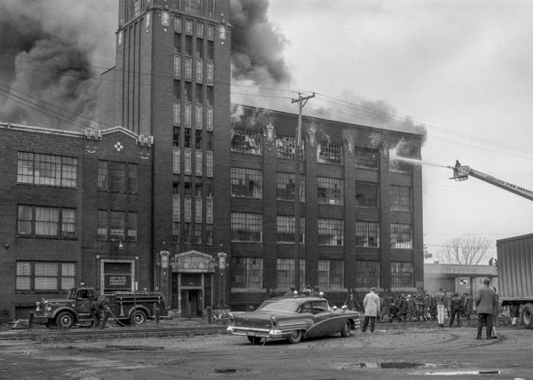massive fire in Chicago 1964