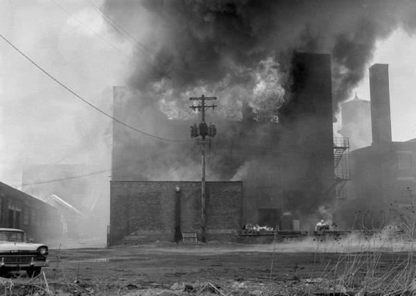 massive fire in Chicago 1964