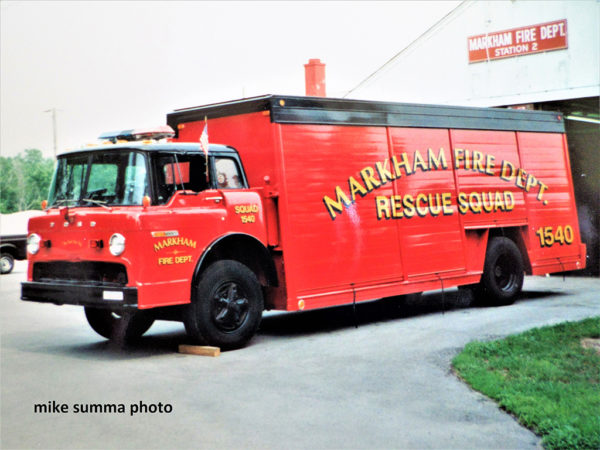 Markham Fire Department history
