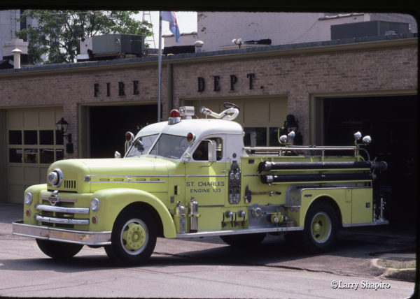 Seagrave Anniversary Series fire engine in St Charles IL