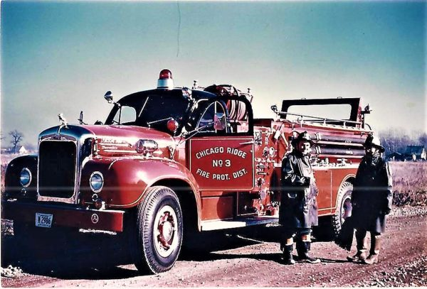 Chicago Ridge Chicago Ridge FPD Engine 3, a 1950's Mack B