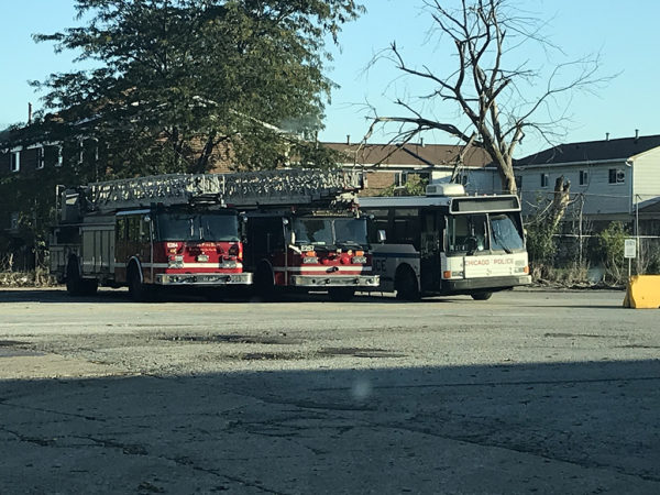 spare Chicago FD ladder trucks
