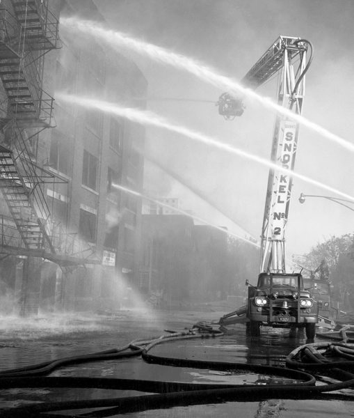 vintage fire photo with Chicago FD Snorkel #2 in 1959