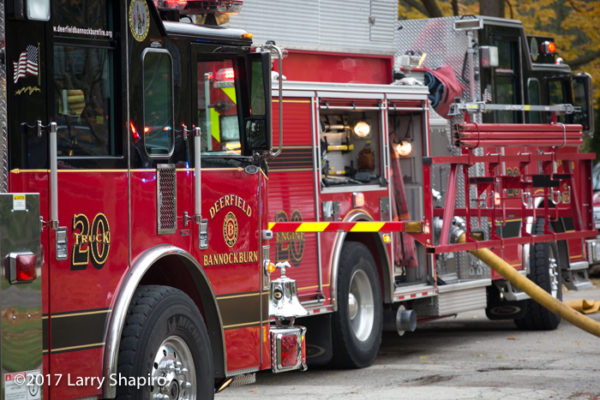 Deerfield Bannockburn FPD fire trucks