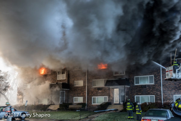 apartment building fire in Bensenville IL