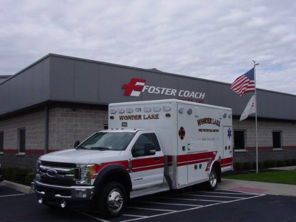 Wonder Lake FPD ambulance