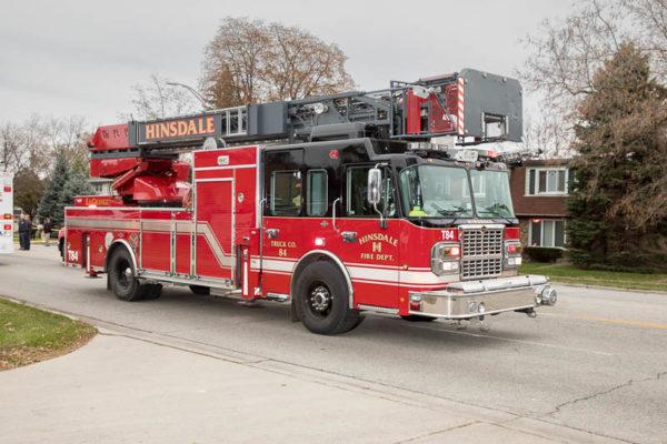 Hinsdale FD fire truck Rosenbauer Raptor Mertz