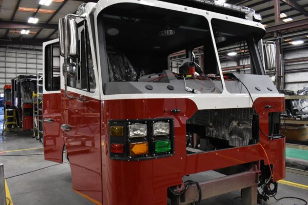 fire engine being built by Ferrara