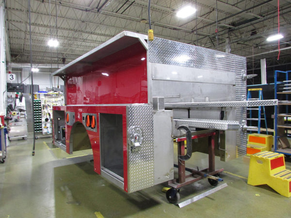 fire engine being built at E-ONE