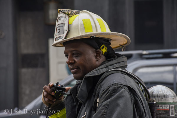 African American Chicago FD Battalion Chief