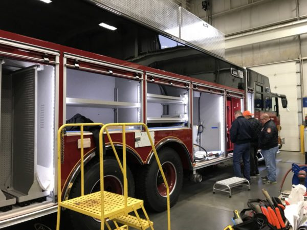 fire truck being built at Pierce