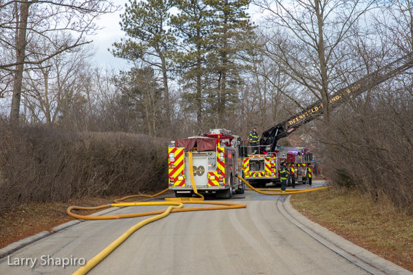 Deerfield-Bannockburn FPD fire trucks