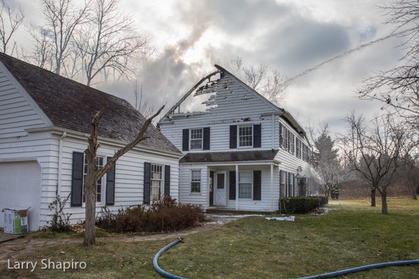 House fire in Bannockburn, IL 12-23-17.