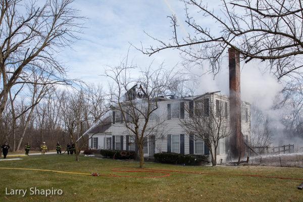House fire in Bannockburn, IL 12-23-17.