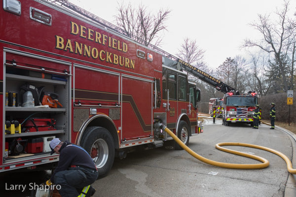 Deerfield-Bannockburn FPD fire trucks