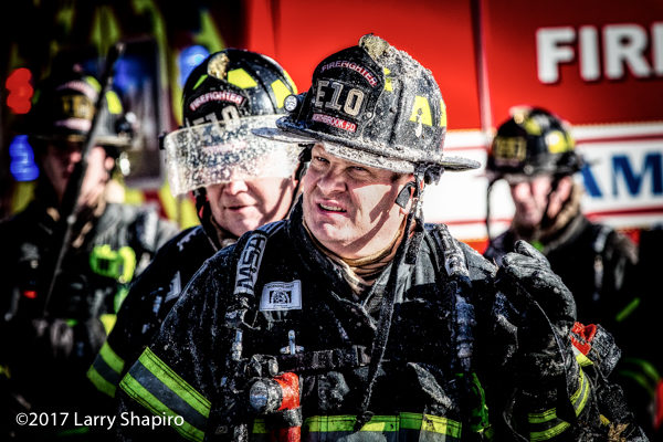 firefighter after battling a fire