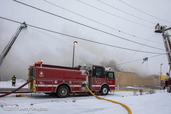 Des Plaines FD Engine 63 at a fire scene