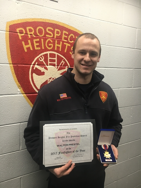 Prospect Heights FPD Firefighter/Paramedic Walter Prestel