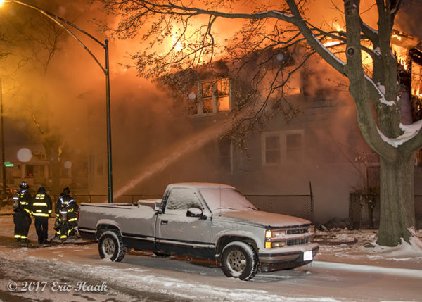 firefighters battle early morning house fire