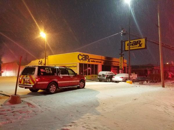 car-X auto shop destroyed by fire in Des Plaines IL
