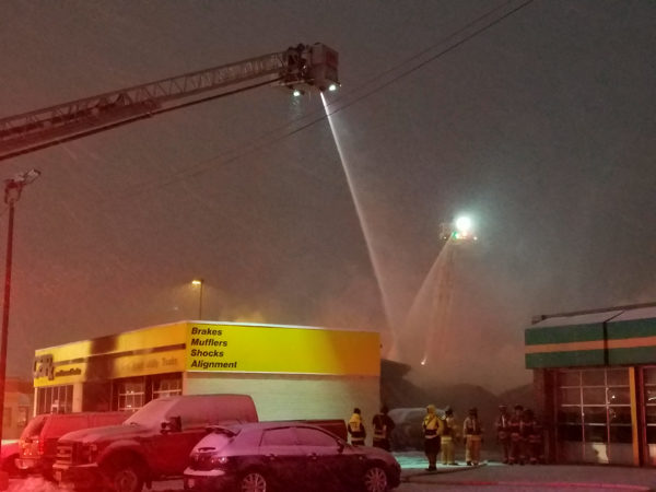 car-X auto shop destroyed by fire in Des Plaines IL