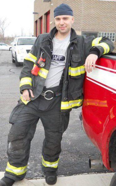 Kankakee firefighter Derek Hogg